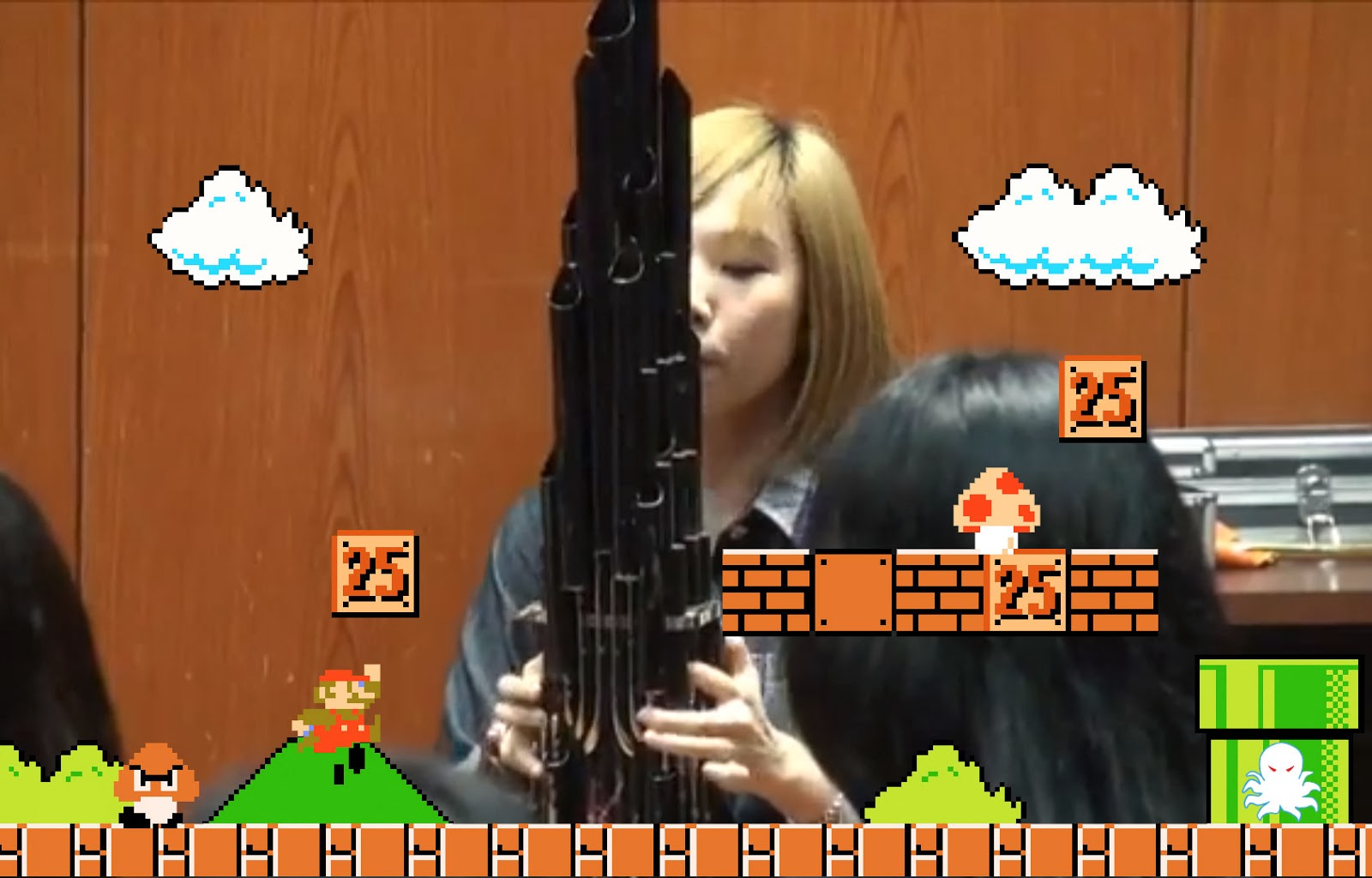 Girl-plays-super-mario-bros-on-ancient-chinese-instrument
