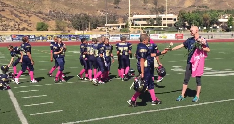 football-team-supports-mother-battling-breast-cancer