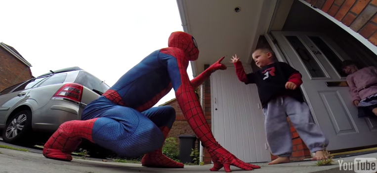 5yo-with-brain-cancer-gets-visit-from-spiderman