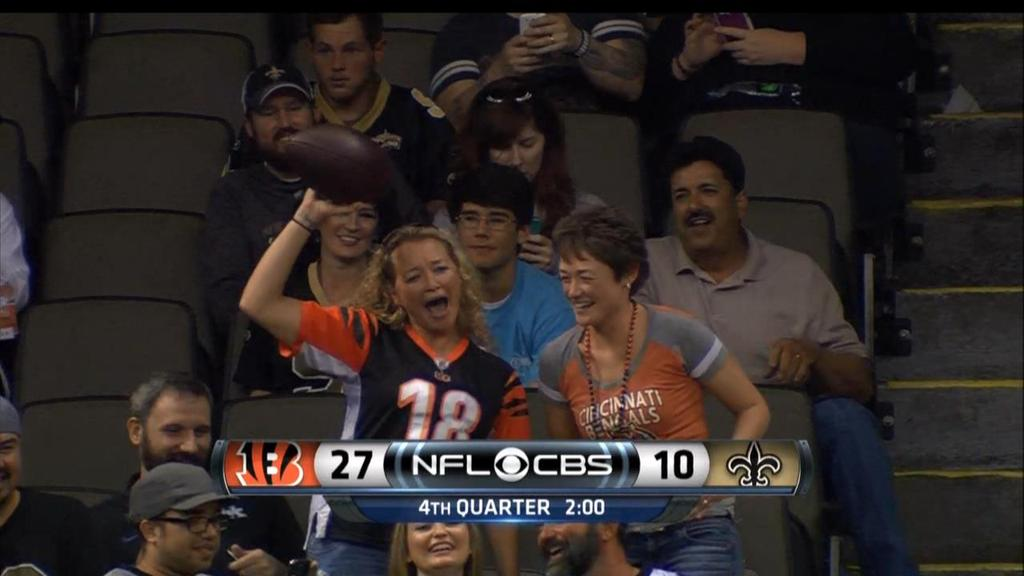 Bengals Fan got the ball